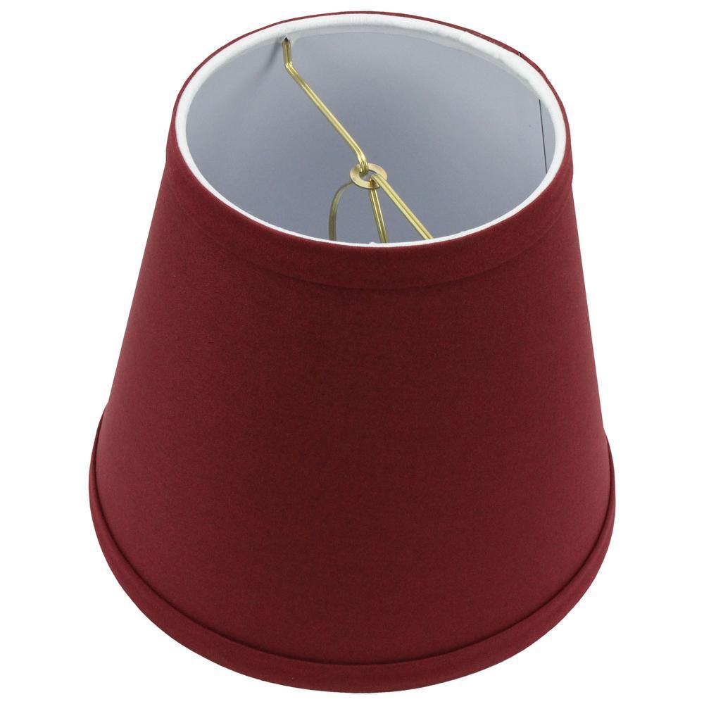 Fenchel Shades 5 in. Top Diameter x 8 in. Bottom Diameter x 7 in. Slant Empire Lamp Shade - Linen Brick