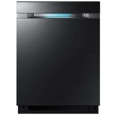 24 in. Top Control Dishwasher in Black Stainless Steel with Stainless Steel Tub and WaterWall Wash System WIFI