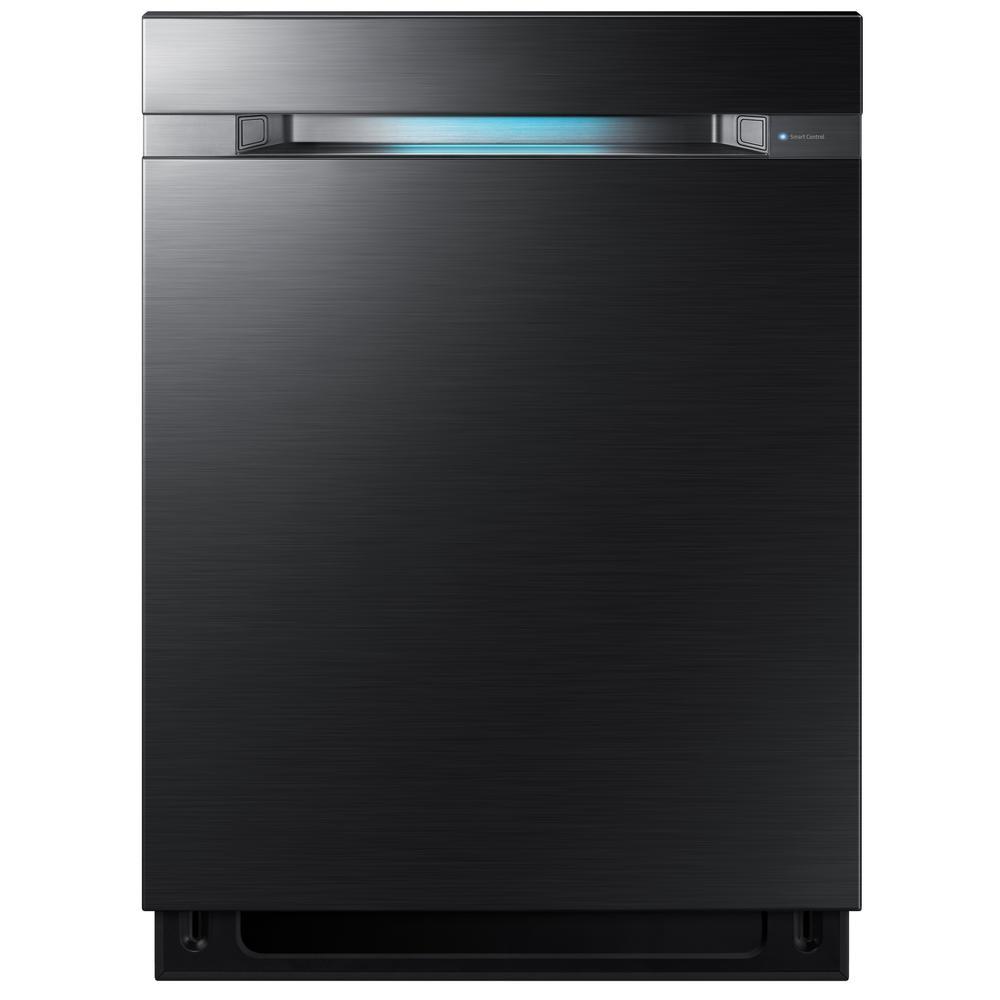 24 in Top Control Tall Tub WaterWall Dishwasher in Fingerprint Resistant Black Stainless, 3rd Rack, AutoRelease, 38 dBa