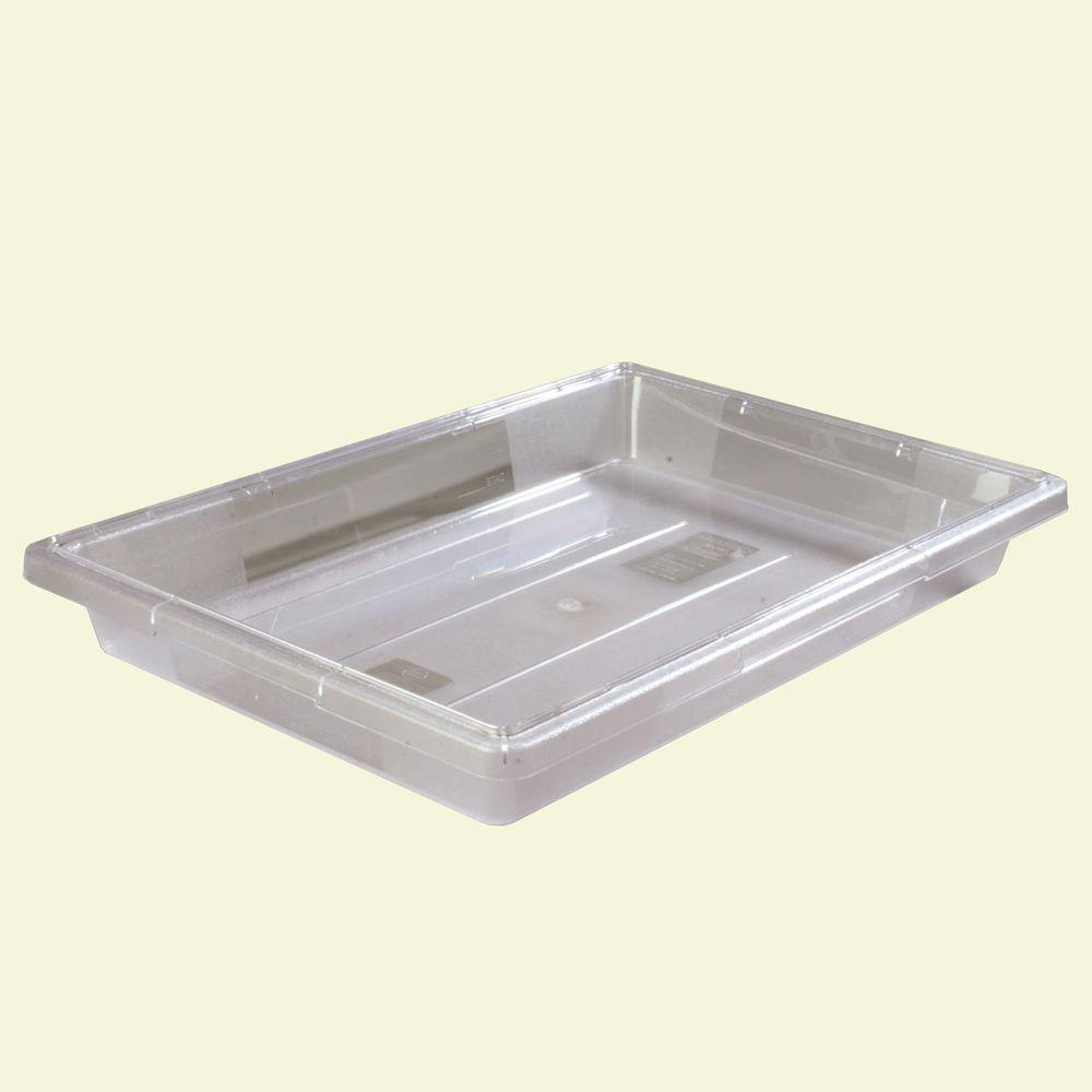 Carlisle 5 gal., 18x26x3.5 in. Polycarbonate Food Storage Box in Clear (Case of 6)