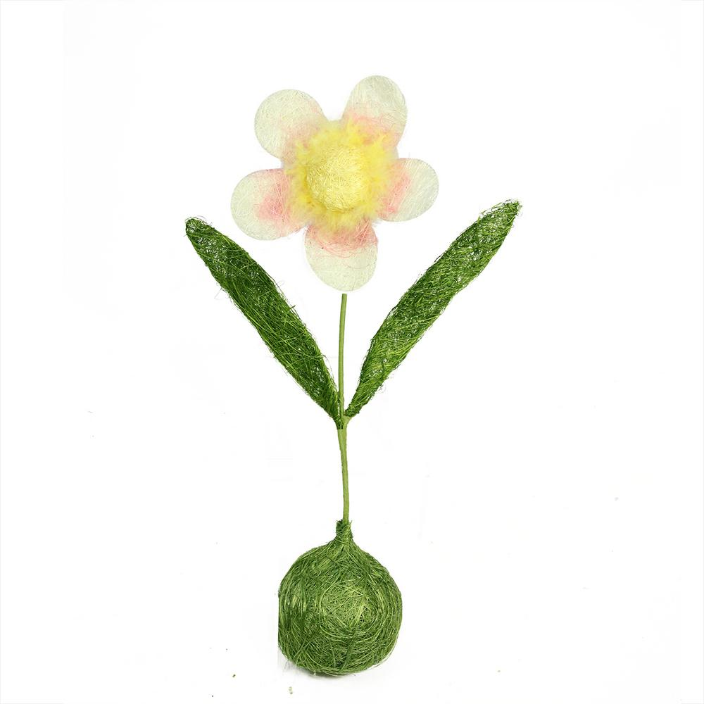 19 Green Yellow And Pink Spring Floral Table Top Decoration