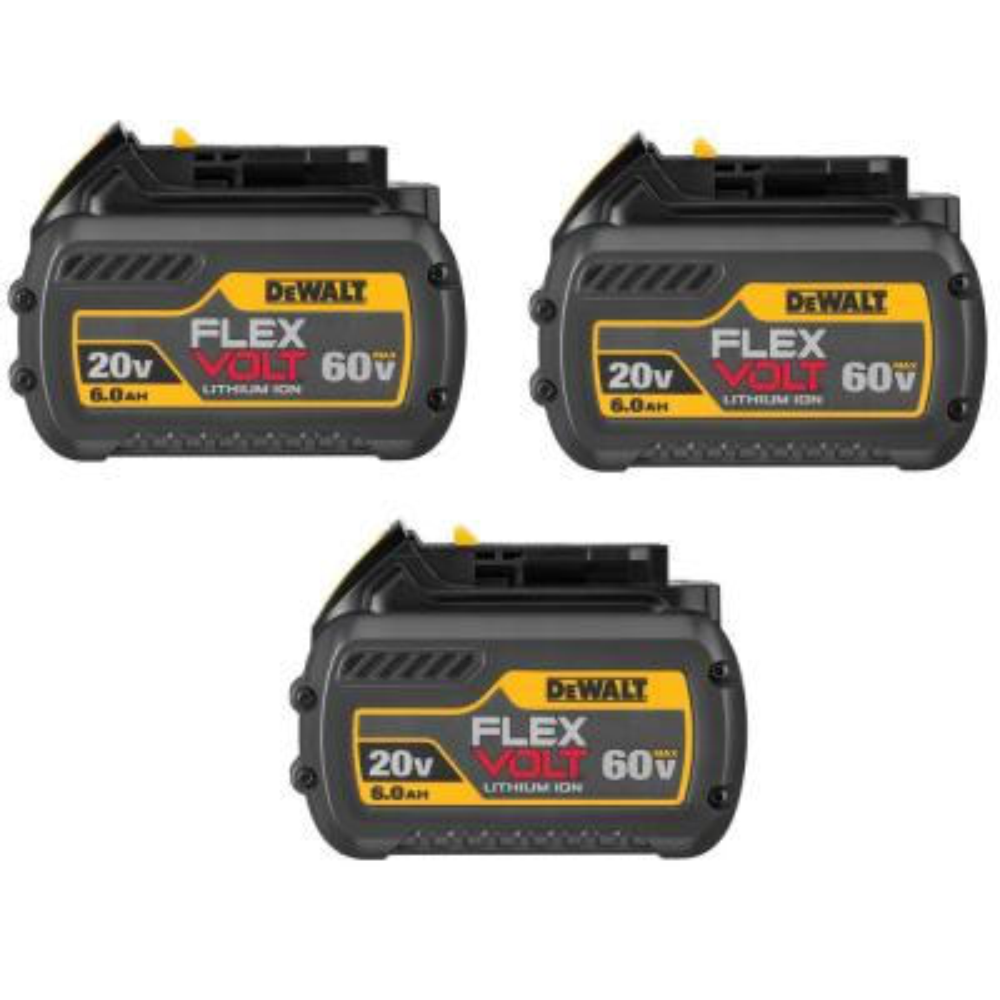 FLEXVOLT 20-Volt/60-Volt MAX Lithium-Ion 6.0Ah Battery Pack (3-Pack)