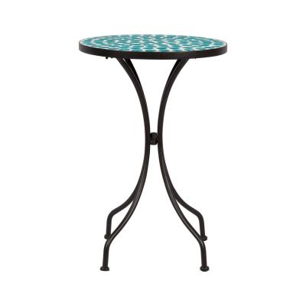 Villa Mosaic Metal Outdoor Side Table
