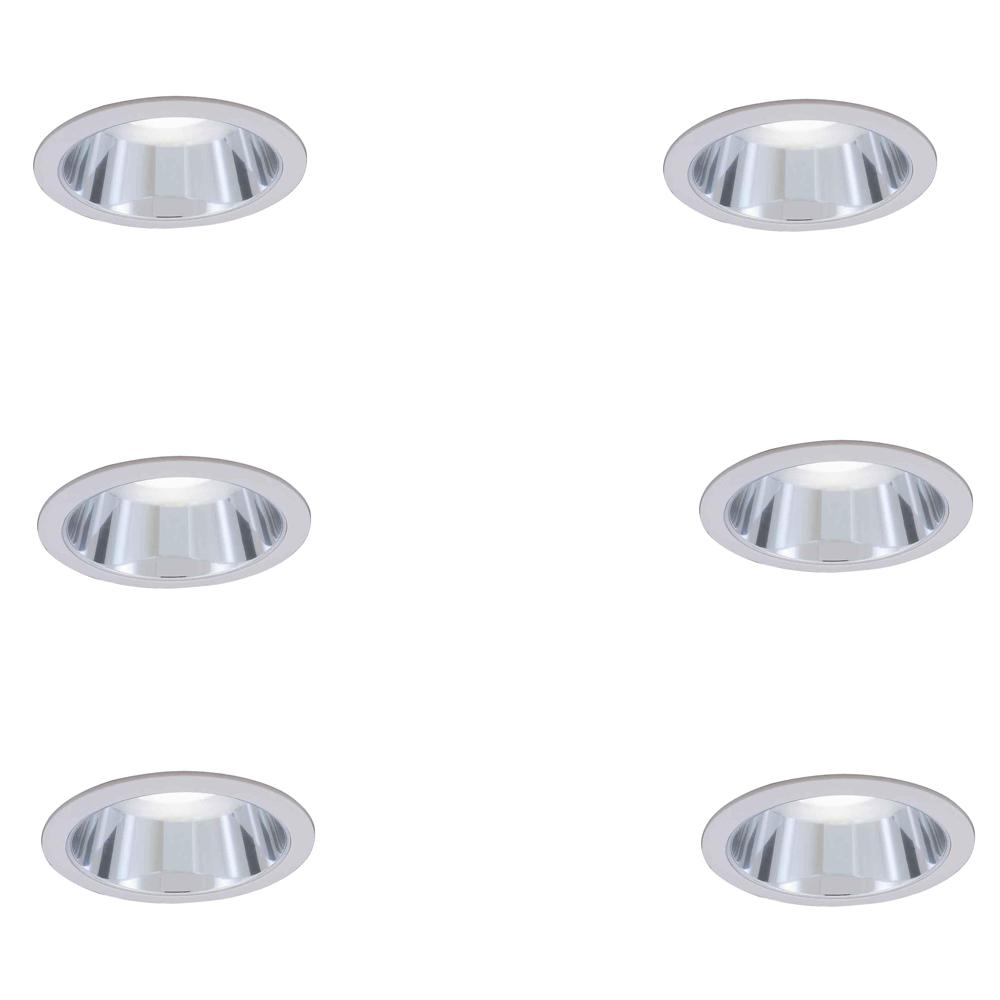 Commercial Electric 6 In. R30 Chrome Recessed Reflector