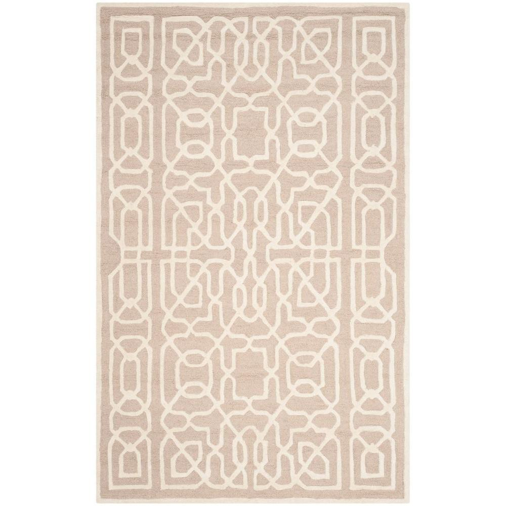 Cambridge Beige/Ivory 5 ft. x 8 ft. Area Rug