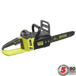 Ryobi 14 inch 40-Volt Brushless Lithium-Ion Cordless Chainsaw 1.5 Ah Battery and Charger Included by Ryobi