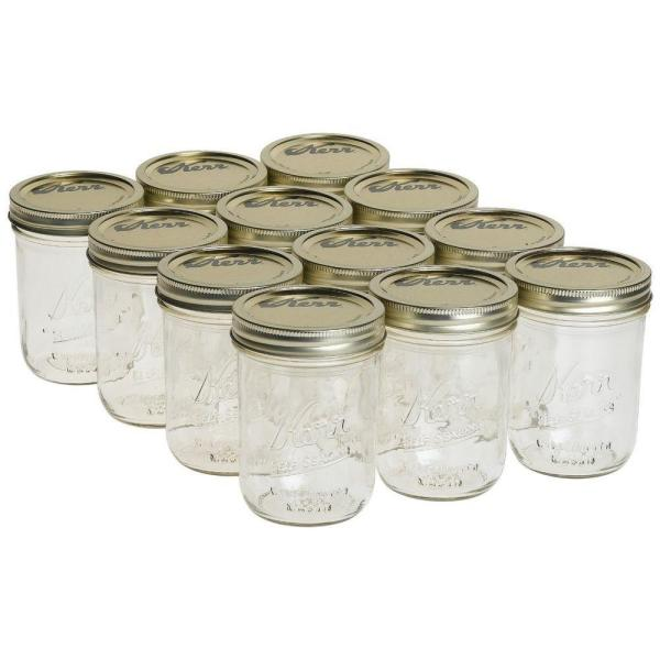 Kerr 1 Pt. Wide Mouth Mason Jars (12-Count)