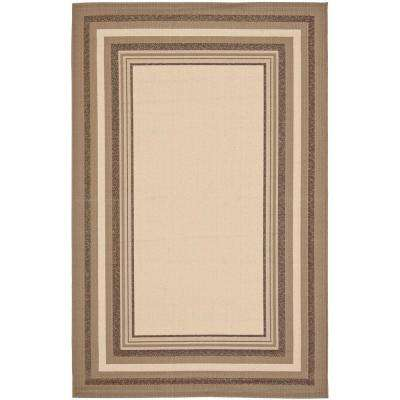 Courtyard Beige/Dark Beige 4 ft. x 6 ft. Indoor/Outdoor Area Rug