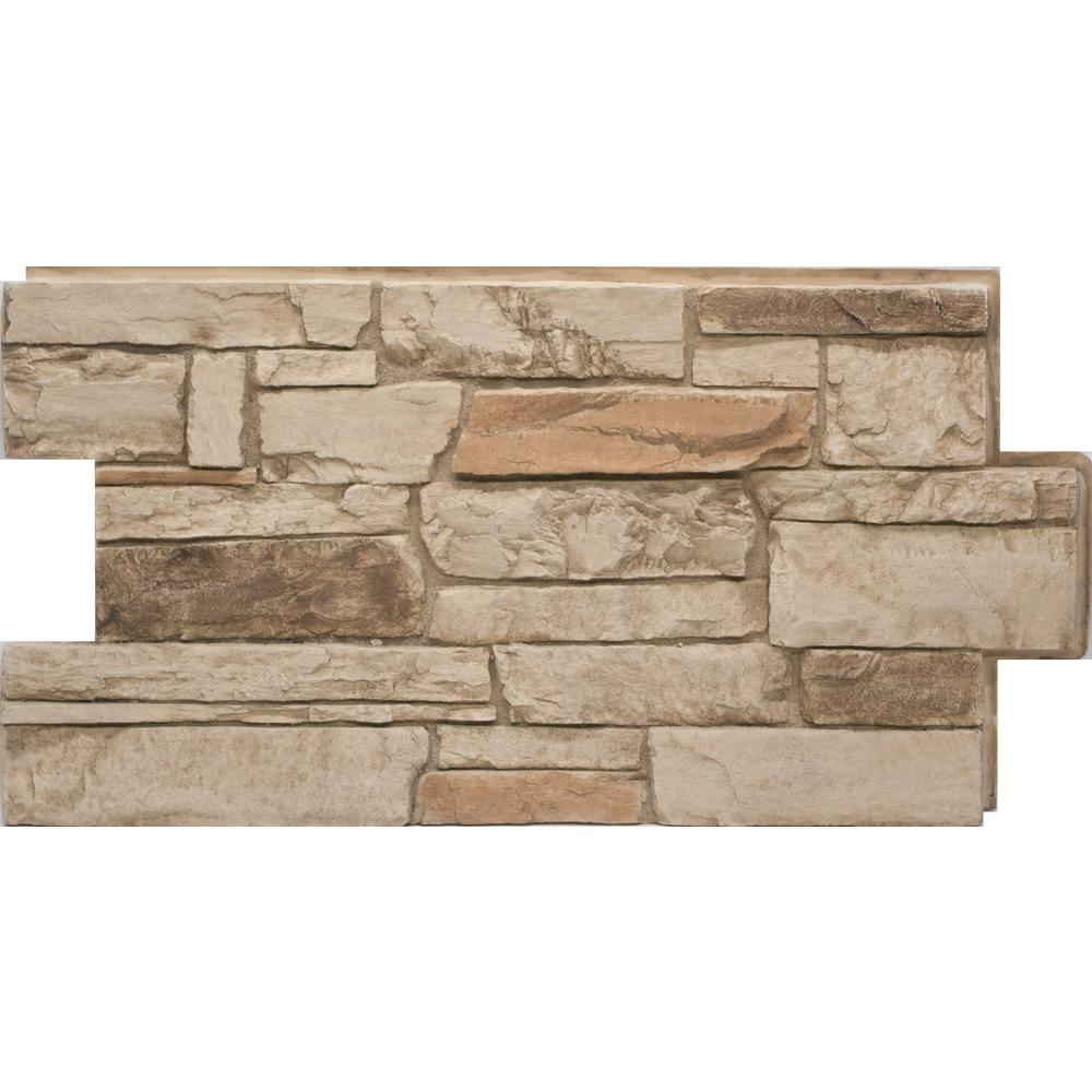 Urestone Ledgestone 35 Desert Tan 24 In X 48 In Stone Veneer Panel Dp2610 35 The Home Depot