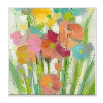 "12 in. x 12 in. ""Longstem Bouquet Painterly Flowers"" by Silvia Vassileva Printed Wood Wall Art"
