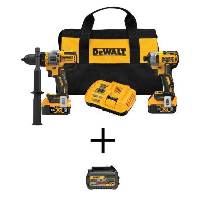 20-Volt MAX Lithium-Ion Cordless Combo Kit (2-Tool) with FLEXVOLT 20-Volt/60-Volt MAX Lithium-Ion 6.0Ah Battery Pack