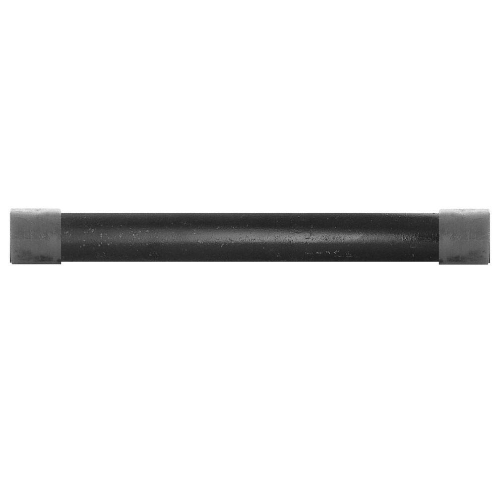 1/2 in. x 1.5 ft. Black Steel Schedule 40 Cut Pipe