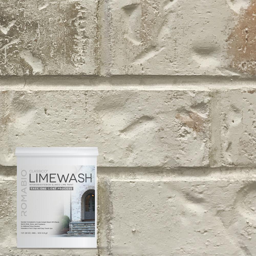 1 qt. Nube Gray Limewash Interior/Exterior Paint