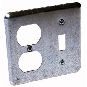 2 device wall plate for toggle switch and duplex 25pack