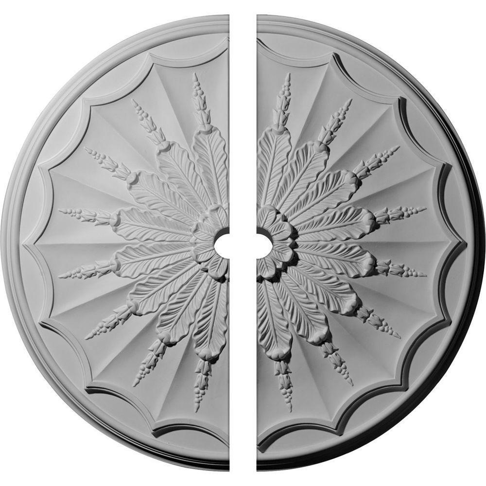 27-1/8 in. O.D. x 2 in. I.D. x 2-5/8 in. P Artis Ceiling Medallion (2-Piece)