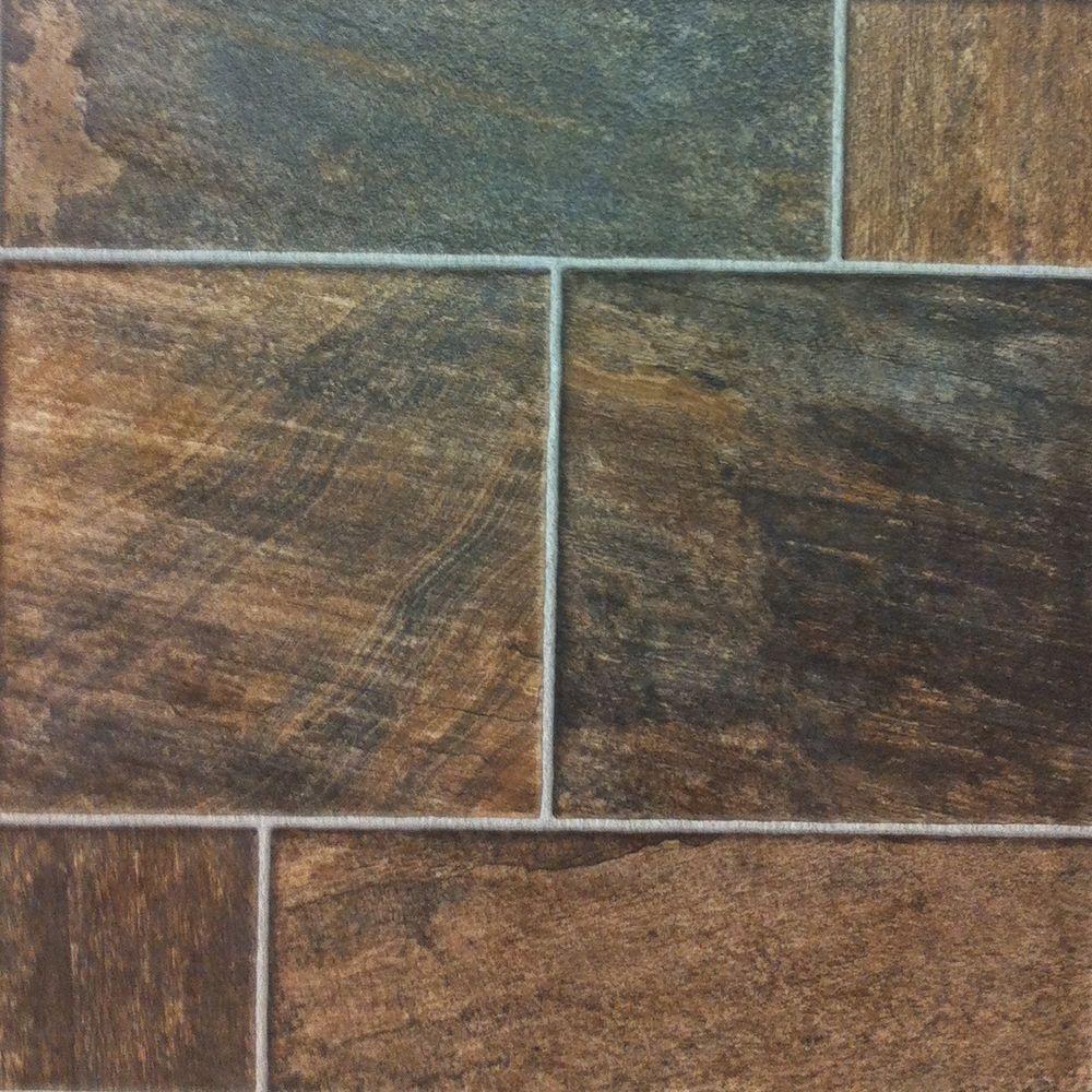 Hampton Bay Bronze Random Slate 10 mm Thick x 15-1/2 in.Wide x 46-1/2 in. Length Click Lock Laminate Flooring (19.98 sq. ft. / case)