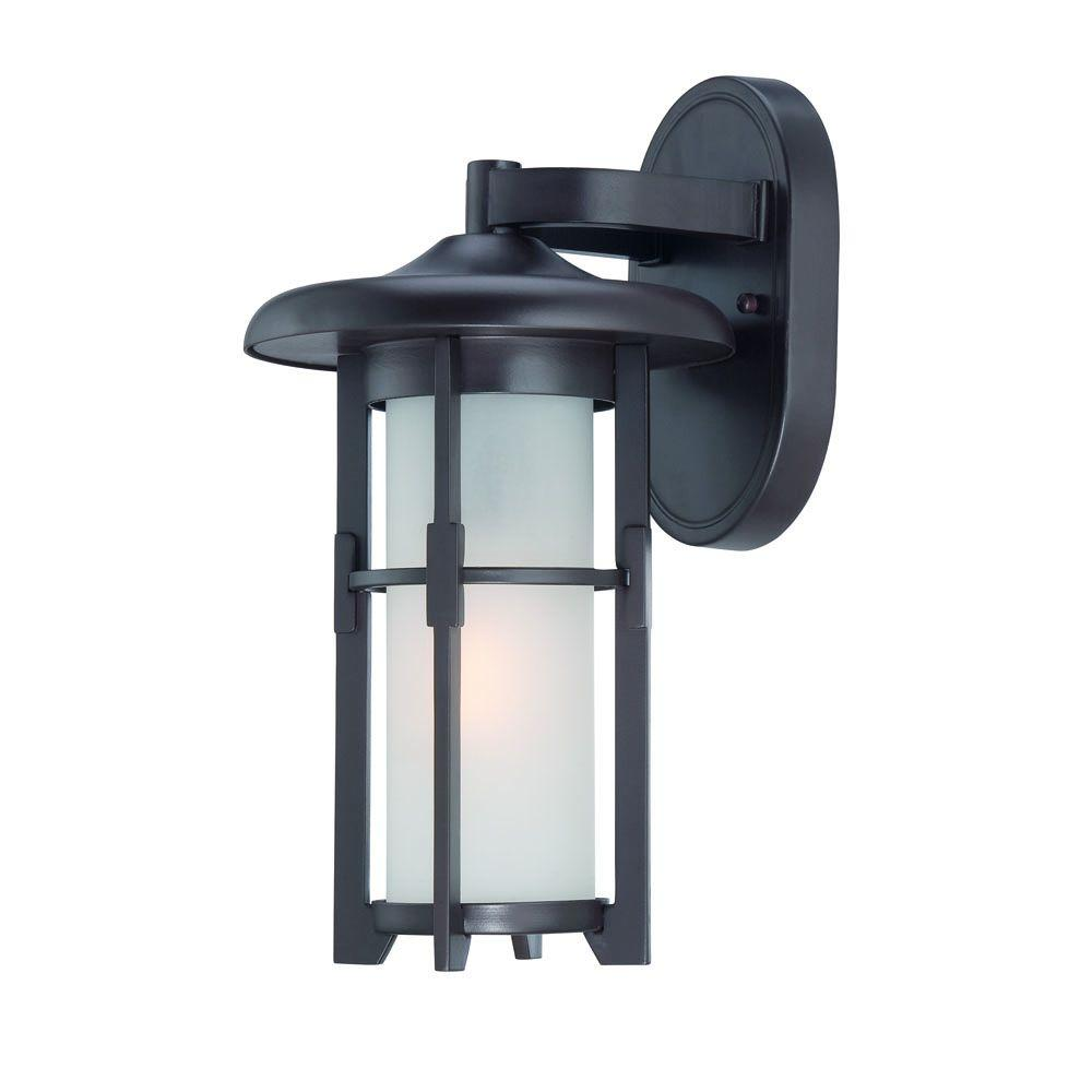 Acclaim Lighting Luma Collection 1-Light Architectural Bronze Outdoor Wall-Mount Light Fixture