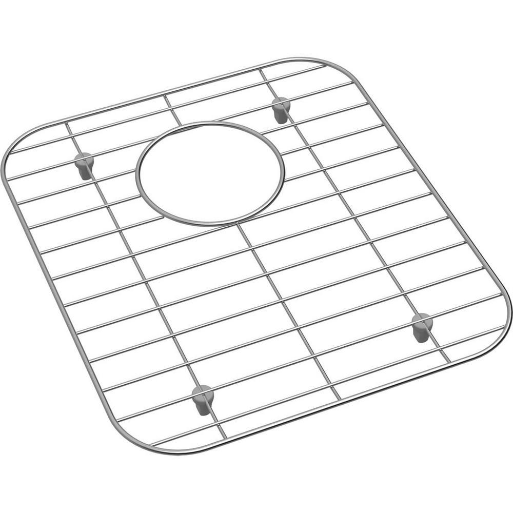 Dayton 12.125 in. x 13.9375 in. Bottom Grid for Kitchen Sink in Stainless Steel