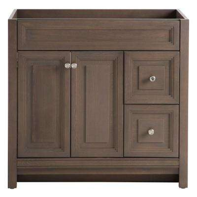 Brinkhill 36 in. W Bath Vanity Cabinet Only in Flagstone