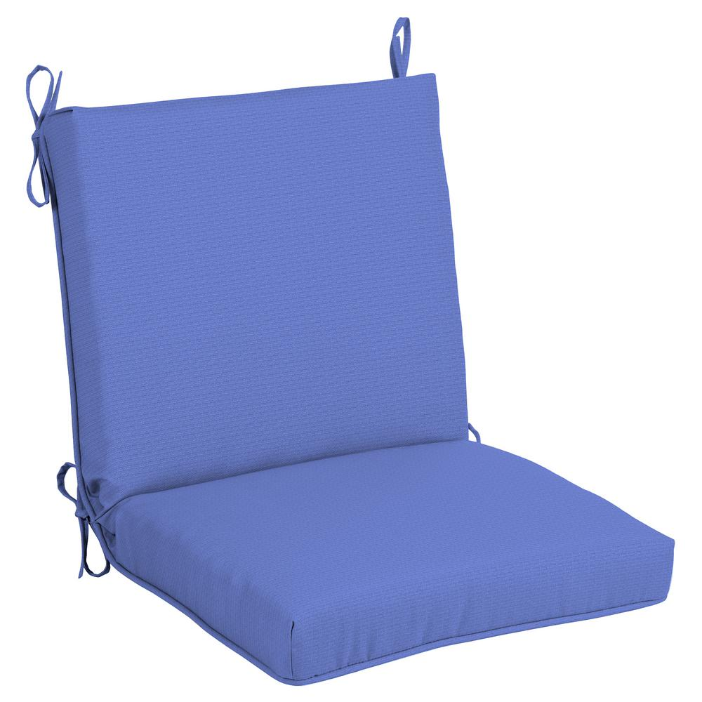 Hampton Bay Periwinkle Outdoor Dining Chair Cushion