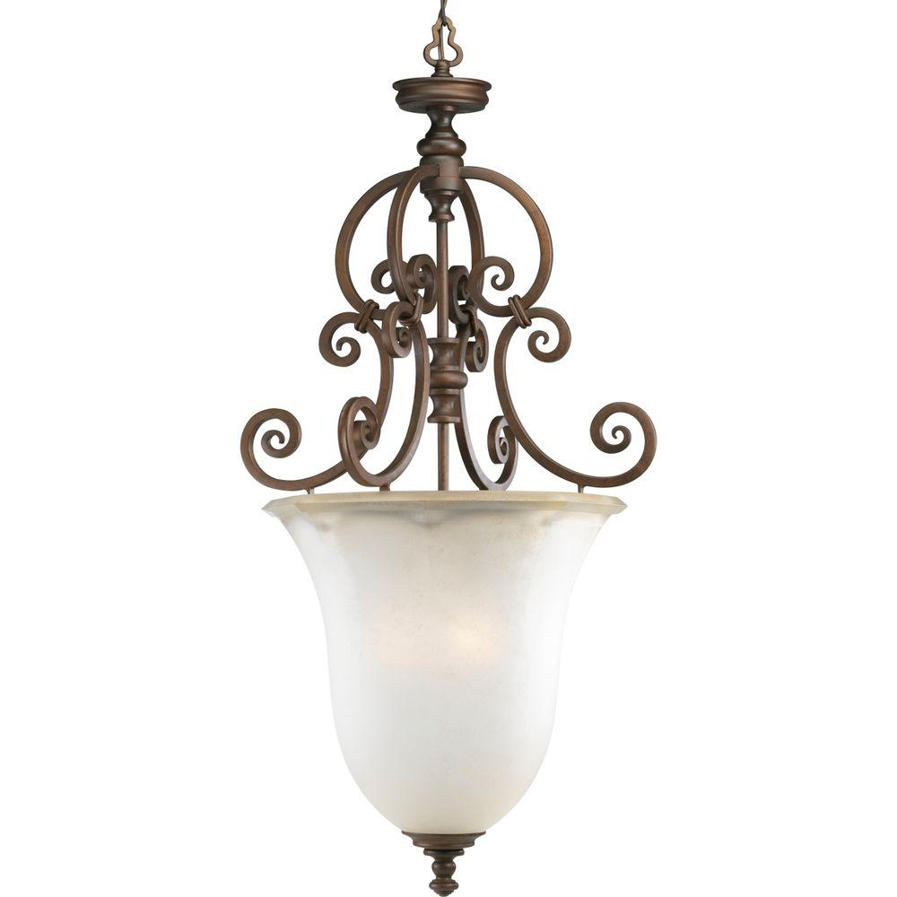 Thomasville Lighting Guildhall Collection 3-Light Roasted Java Foyer Pendant-DISCONTINUED