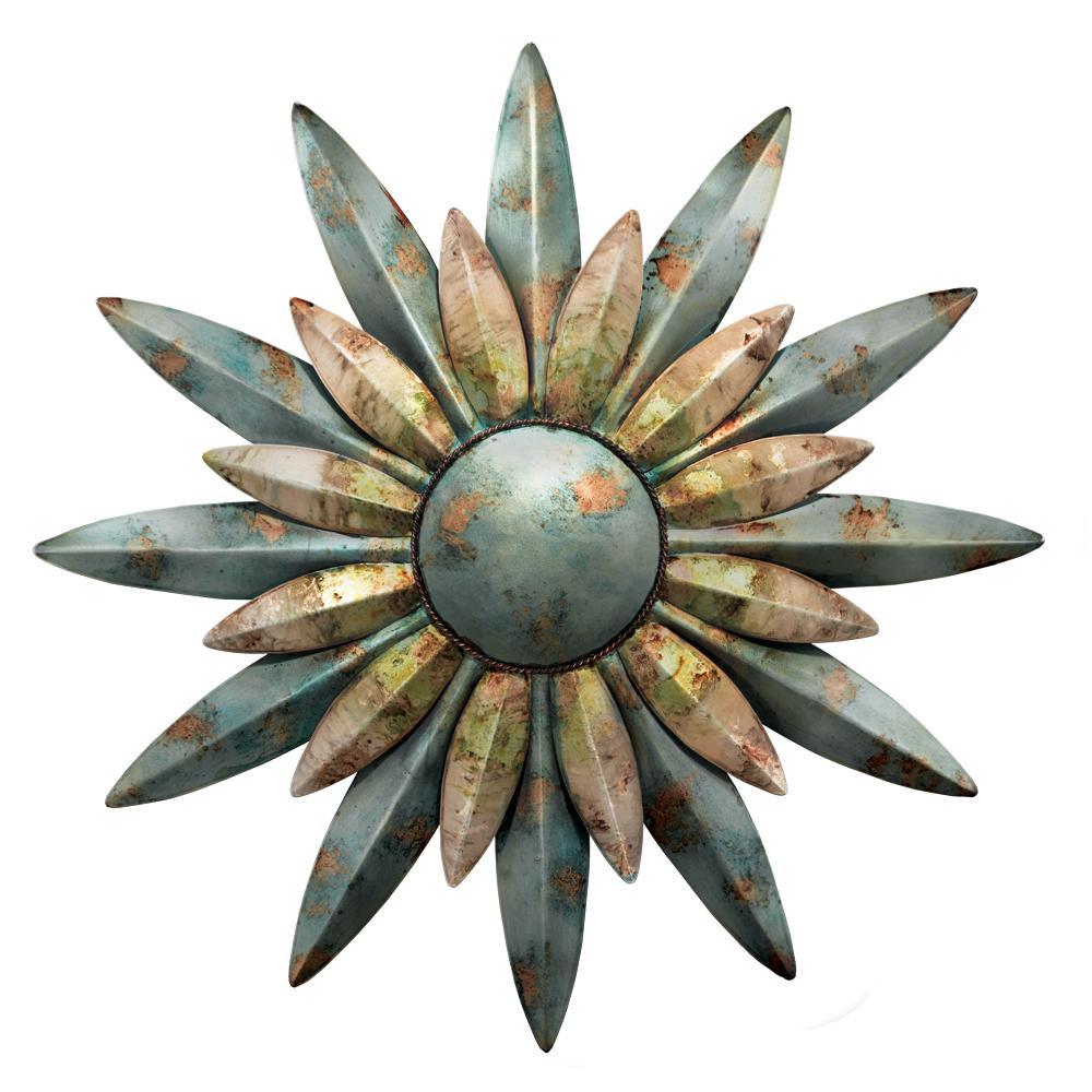 29 in. Aqua Sunburst Sun