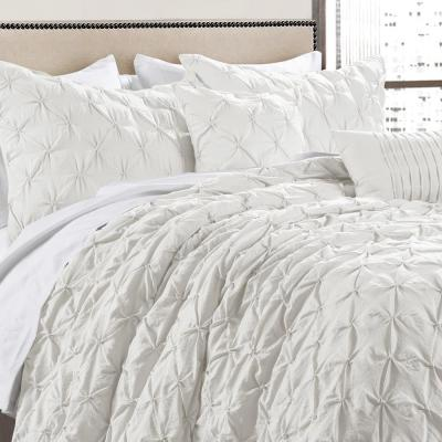 Ravello Pintuck Comforter White 5-Piece King Set