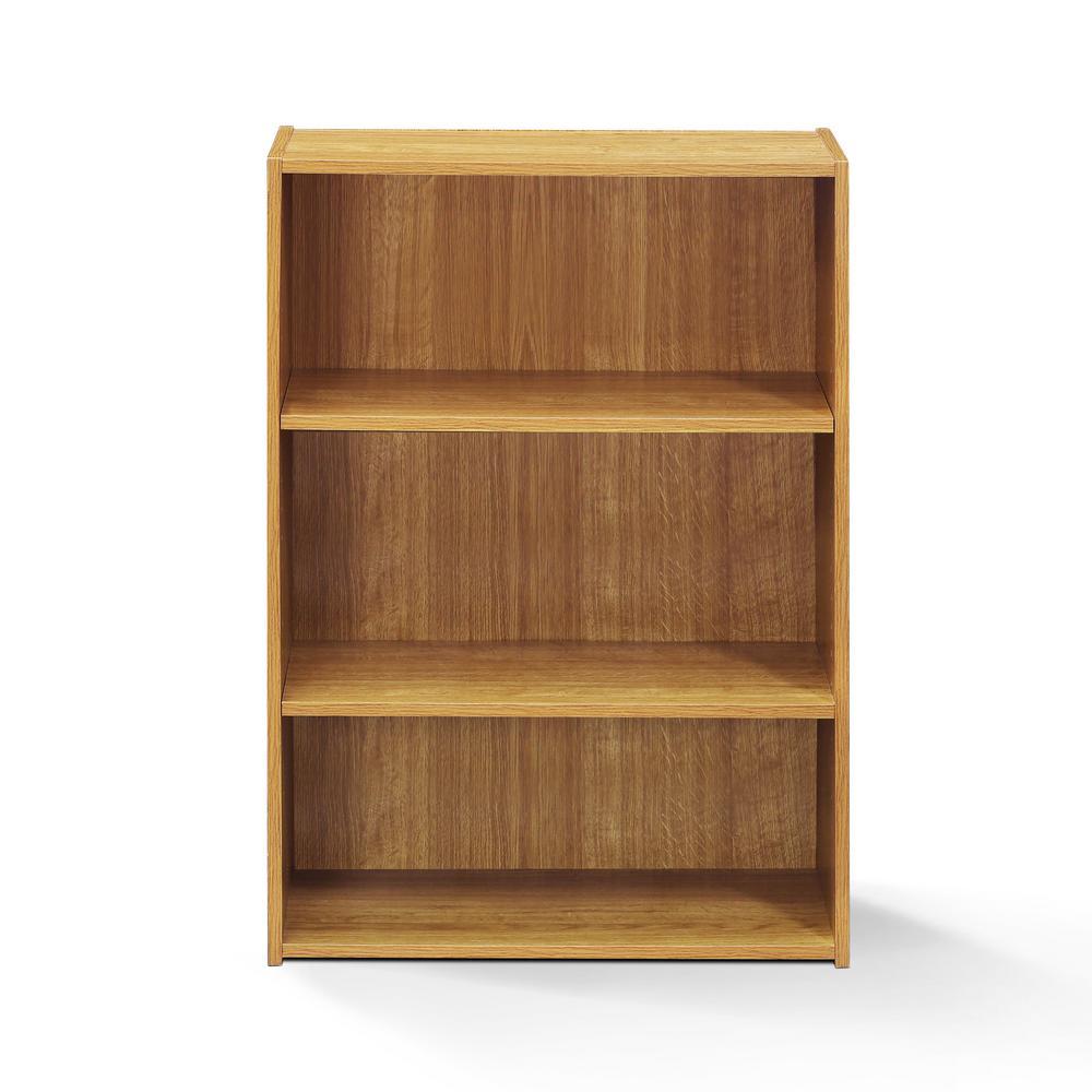 Ordinaire Wright Highland Oak 3 Shelf Bookcase