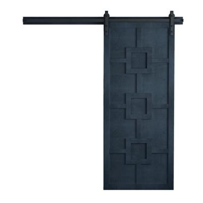 42 in. x 84 in. Mod Squad Admiral Wood Sliding Barn Door with Hardware Kit