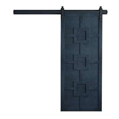 42 in. x 84 in. Mod Squad Admiral Wood Barn Door with Sliding Door Hardware Kit