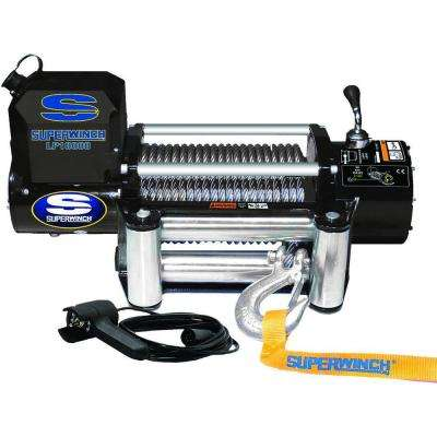 LP10000 12-Volt DC Off-Road Winch with 4-Way Roller Fairlead and 12 ft. Remote