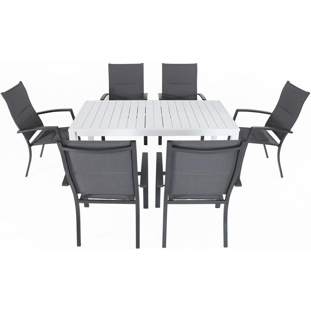 Cambridge Palermo 7 Piece Aluminum Outdoor Dining Set With