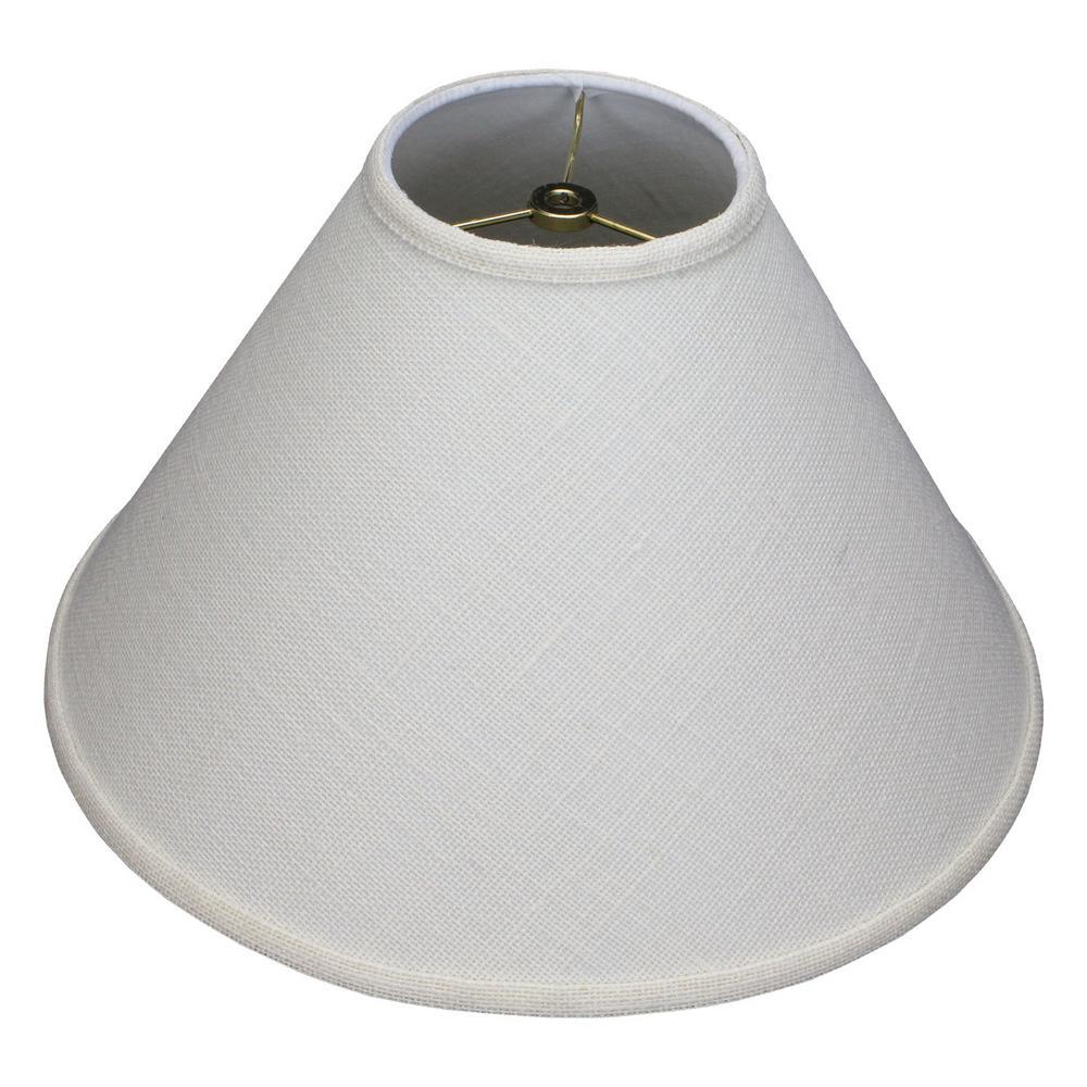 5 in. Top Diameter x 15 in. Bottom Diameter x 10 in. Slant Burlap Off White Coolie Lamp Shade