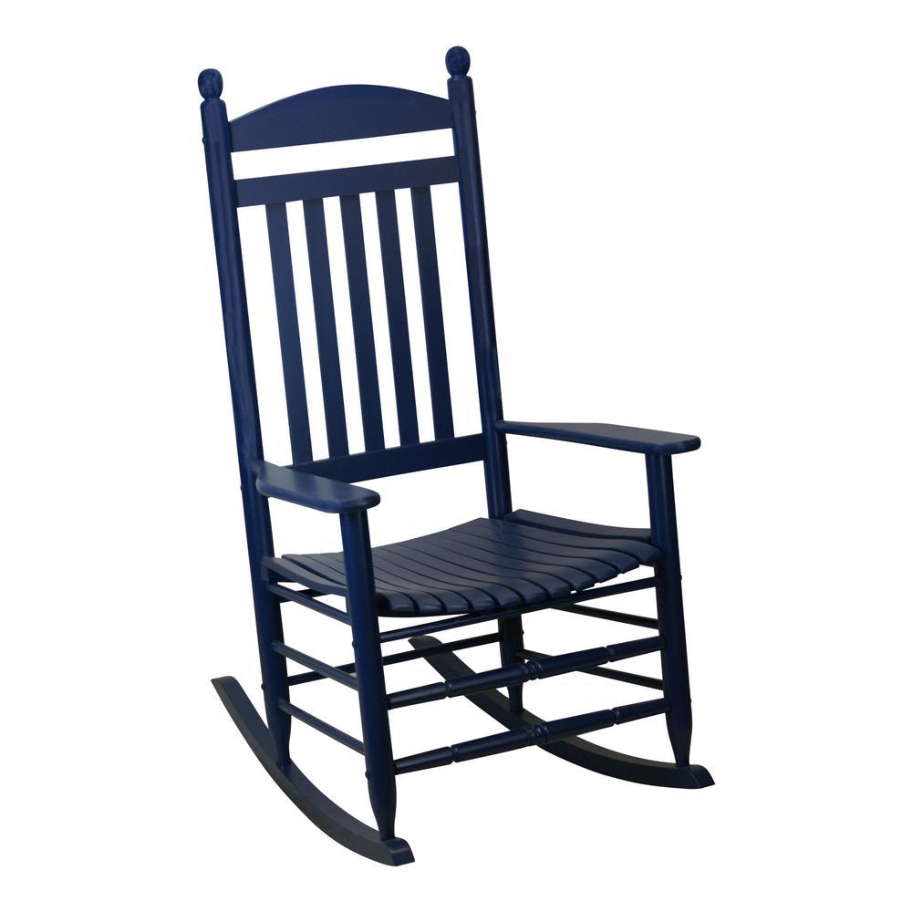 Awesome Bradley Slat Midnight Patio Rocking Chair