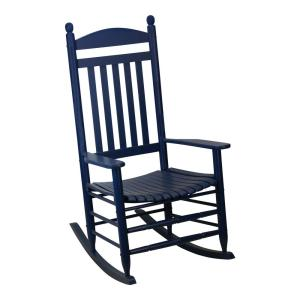 Bradley Slat Midnight Patio Rocking Chair by