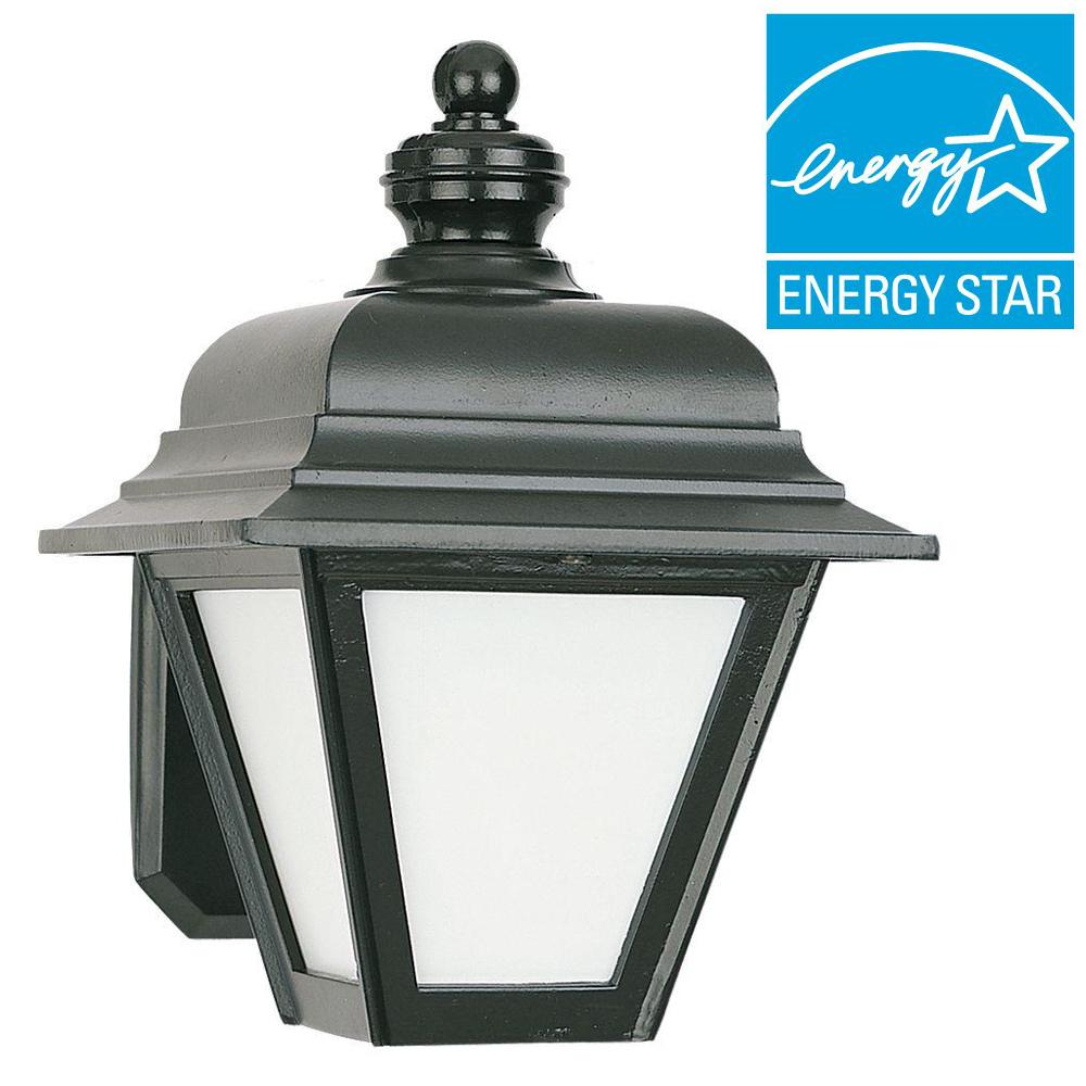 Sea Gull Lighting Bancroft 1-Light Black Outdoor Wall Fixture