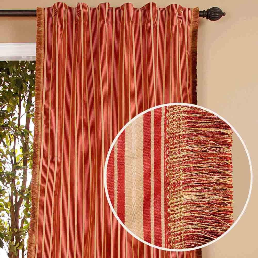 Home Decorators Collection Sheer Rupa Terracotta Drapery Panel-DISCONTINUED