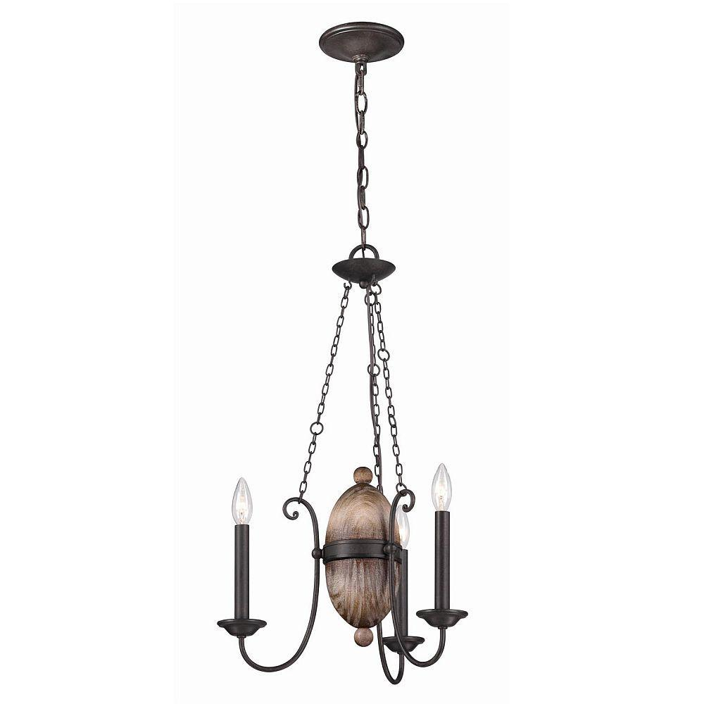 Albero Collection 3-Light Forged Iron Chandelier