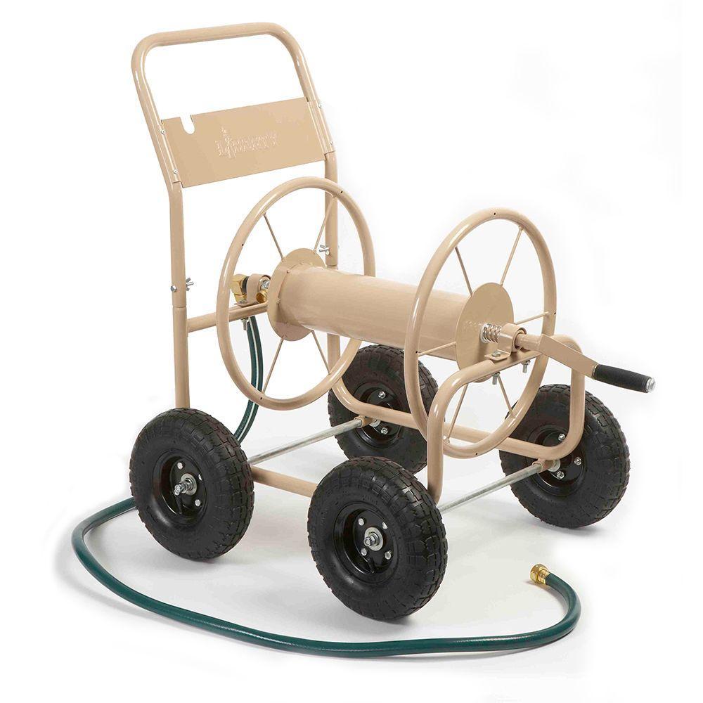 Beautiful Liberty Garden 300 Ft. Four Wheel Industrial Hose Cart 870   The Home Depot