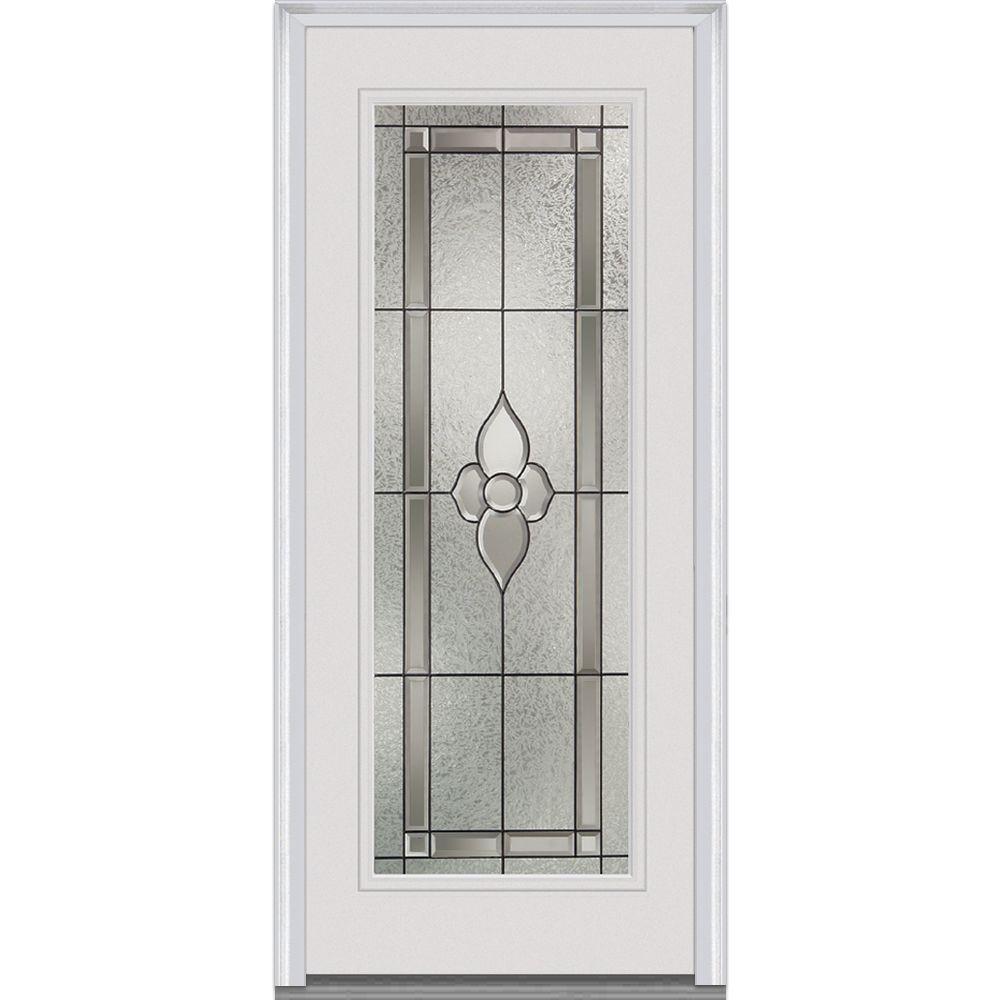 MMI Door 34 In. X 80 In. Master Nouveau Left Hand Full Lite Classic Primed  Steel Prehung Front Door Z001469L   The Home Depot