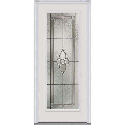 34 in. x 80 in. Master Nouveau Right-Hand Full Lite Classic Primed Steel Prehung Front Door