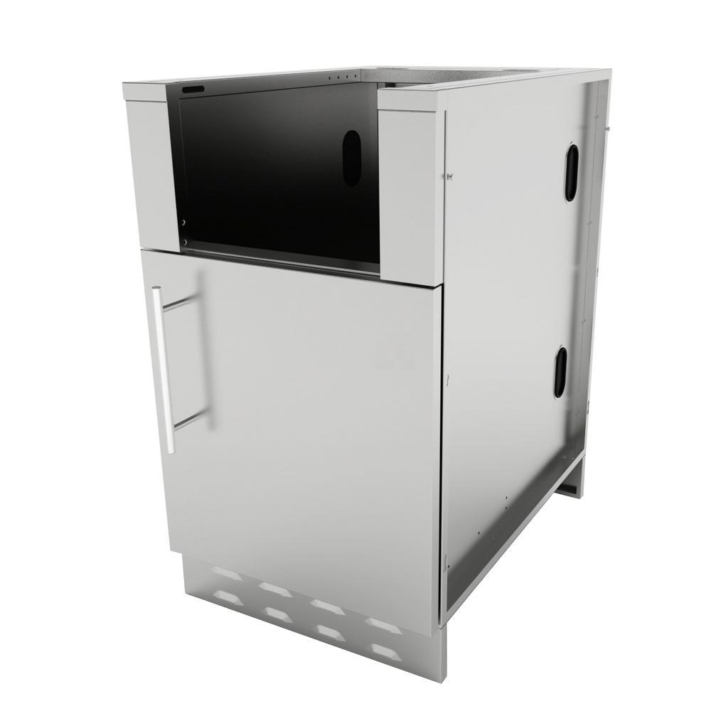 Stainless Steel Appliance Cabinet Right Swing Door