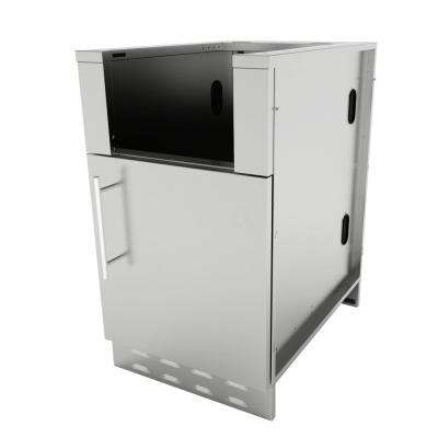 Designer Series 304 Stainless Steel 20 in. x 34.5 in. x 28.25 in. Appliance Cabinet with Right Swing Door