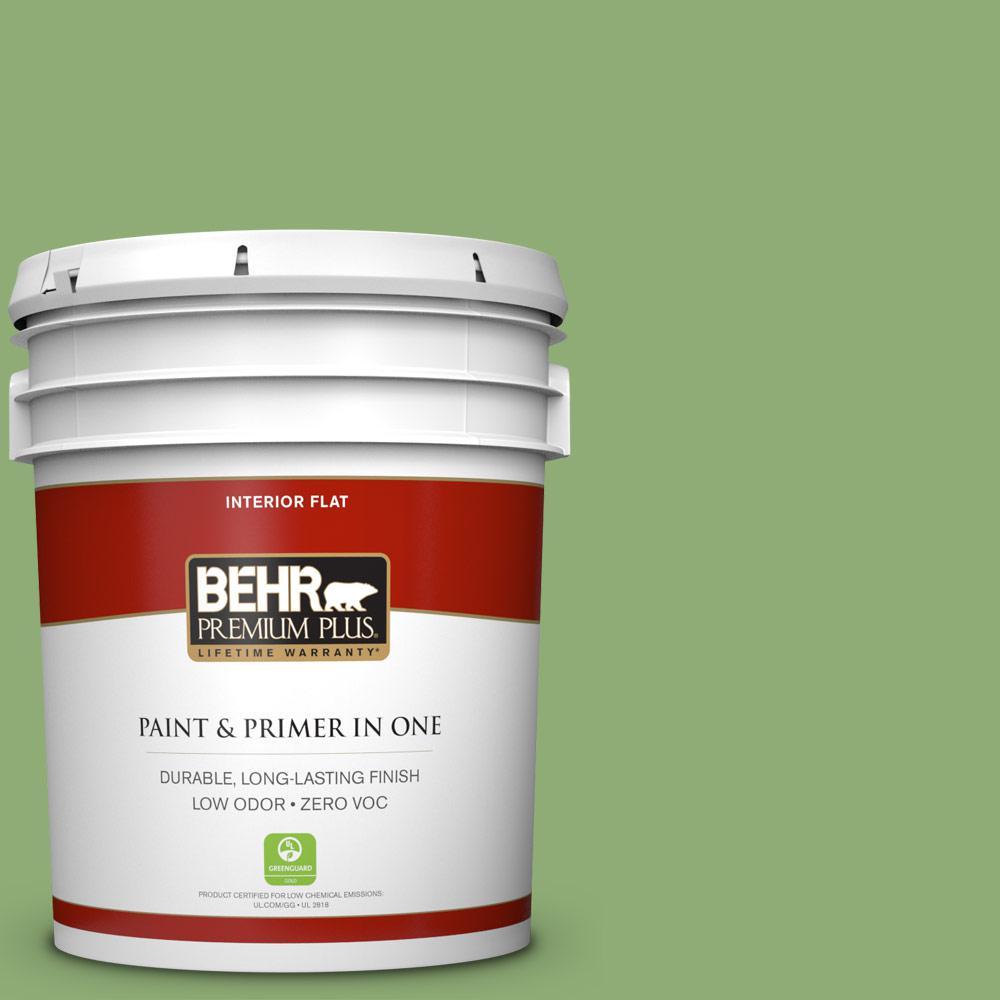 5 gal. #430D-5 Geranium Leaf Zero VOC Flat Interior Paint