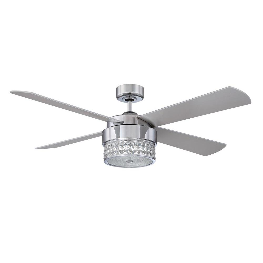 Designers choice collection celestra 52 in chrome and optic designers choice collection celestra 52 in chrome and optic crystal ceiling fan ac20952 ch the home depot mozeypictures Gallery