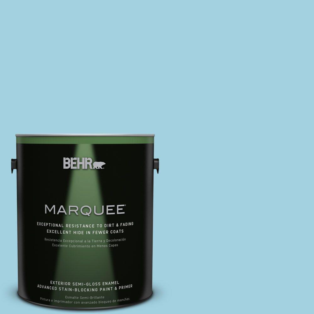 BEHR MARQUEE 1-gal. #M480-3 Bengal Blue Semi-Gloss Enamel Exterior Paint