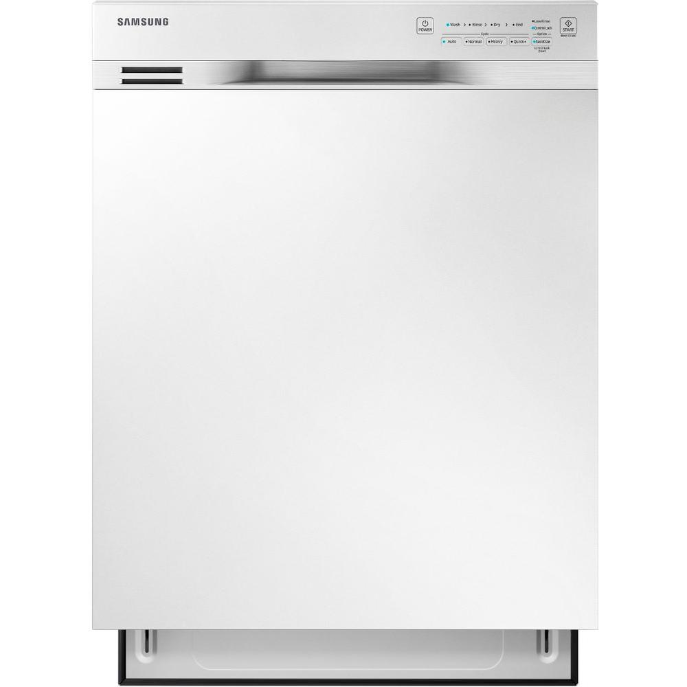 Samsung 24 in. Front Control Dishwasher in White with Stainless Steel Tub, 50 dBA