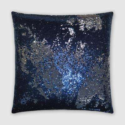 Pixie Midnight Feather Down 20 in. x 20 in. Standard Decorative Throw Pillow