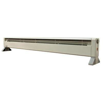 34 in. 750-Watt 120-Volt Hydronic Portable Baseboard Heater with Thermostat