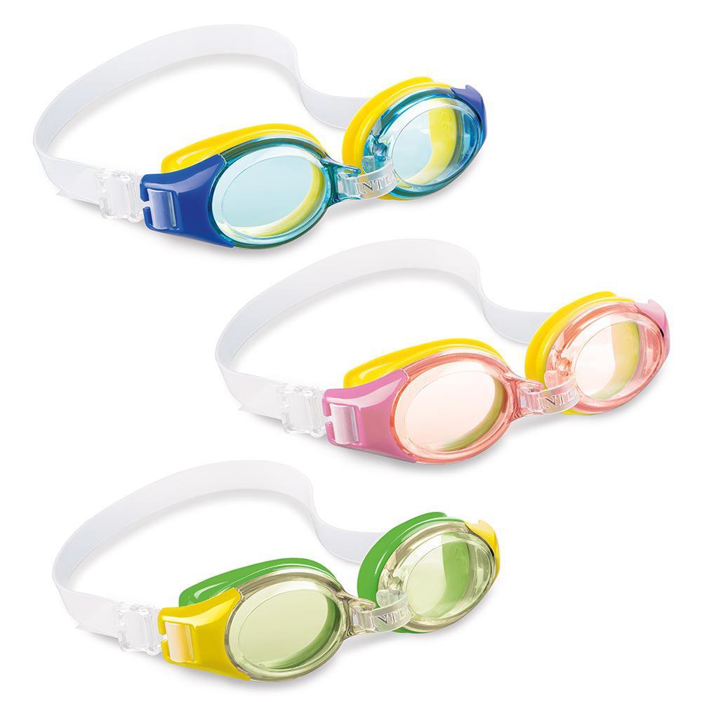Intex Recreation Junior Green, Blue and Pink Goggles (3-P...